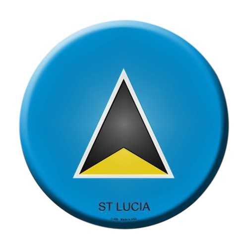 Smart Blonde St Lucia Country Novelty Metal Circular Sign C-426