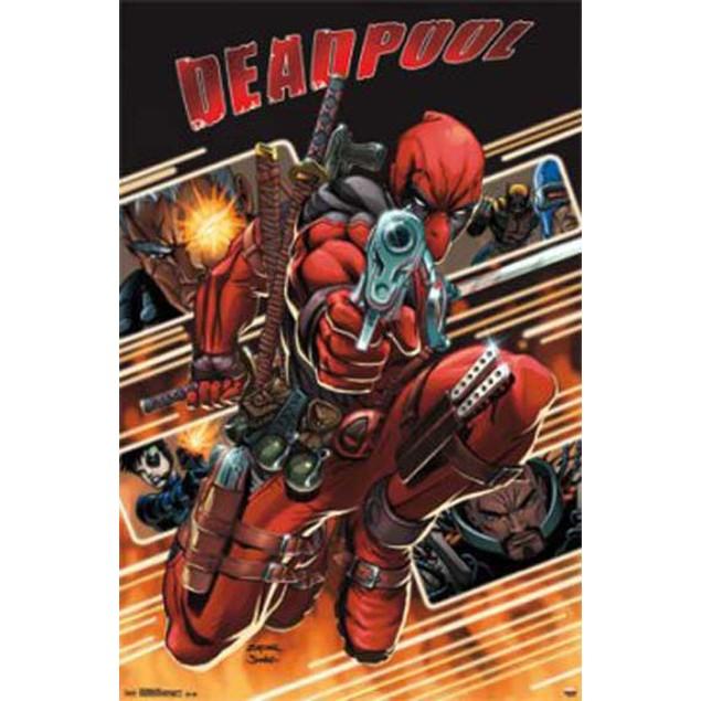 "Deadpool Attack Marvel Superhero Antihero Art Poster 22"" x 34"""
