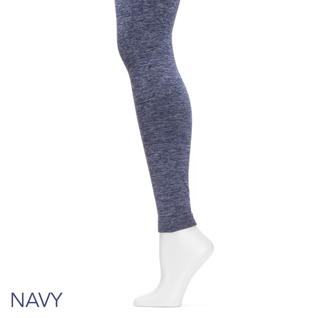 MUK LUKS Marled Fleece-Lined Leggings (S-2X)
