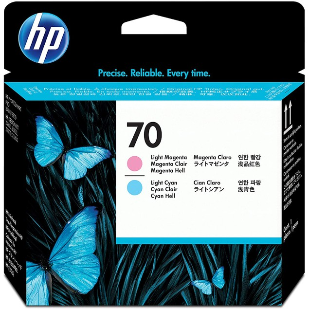 HP 70 Light Magenta & Light Cyan DesignJet Printhead (C9405A) for DesignJet Z5200, Z3200, Z3100 & Z2100 Large Format Printers