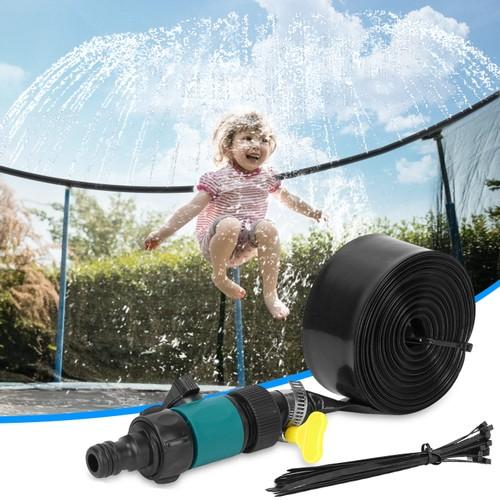 39FT Kids Trampoline Sprinkler Outdoor Water Park Sprinkler