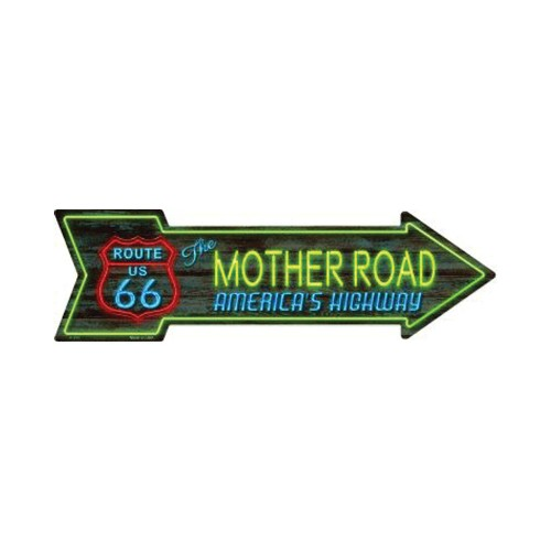 Smart Blonde Route 66 Mother Road Neon Novelty Metal Arrow Sign A-284
