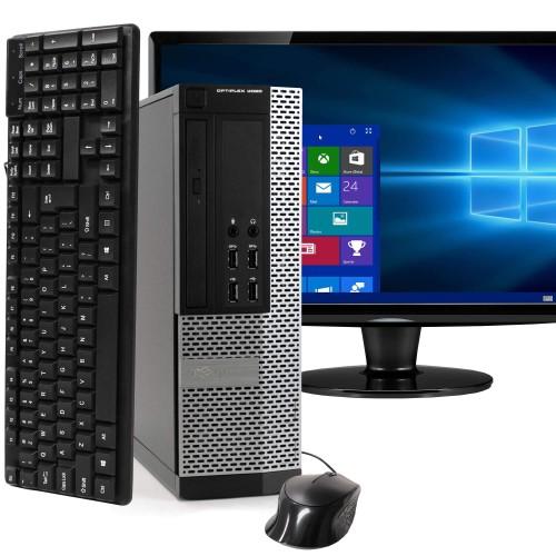 "Dell 9020 Desktop Intel i5 16GB 2TB HDD Windows 10 Professional 22"" Monitor"