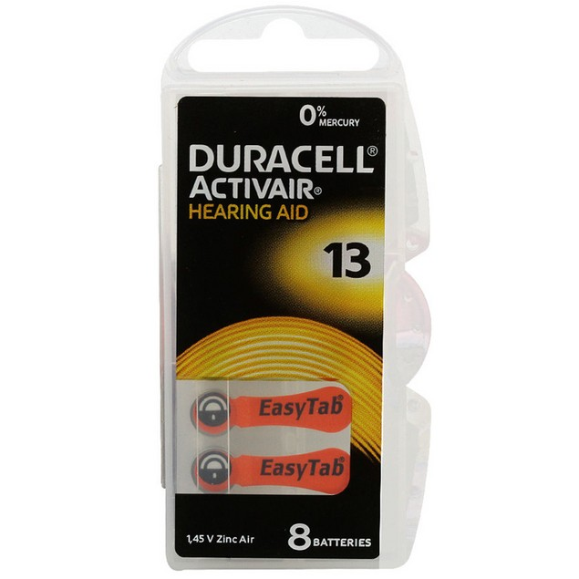 Duracell Activair Size 13 Zinc Air Hearing Aid Batteries (80 pack)