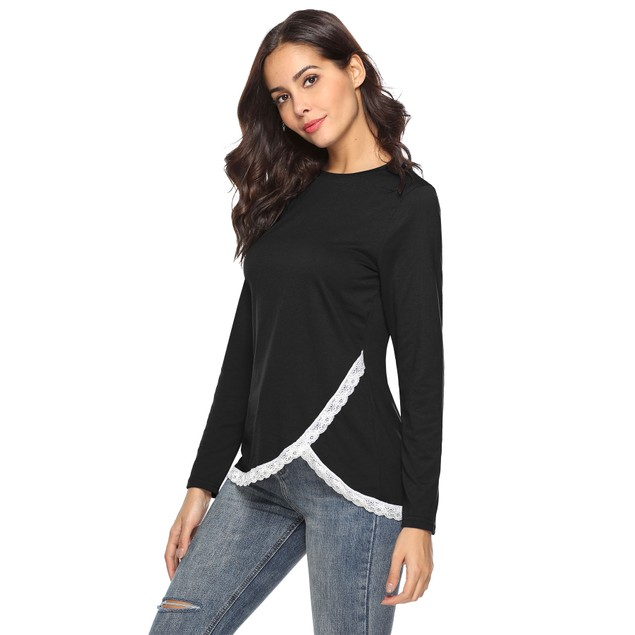 Rounded Lace Bottom Shirt