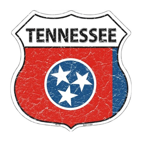 Smart Blonde HS-150 Tennessee State Flag Highway Shield Aluminum Metal Sign