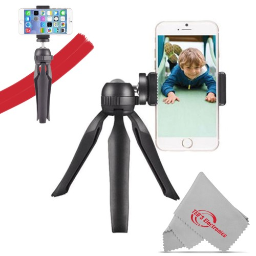 """Vivitar 7.5"""" Compact Tabletop Tripod & Hand Grip with Articulating Ball Head for Selfies"""