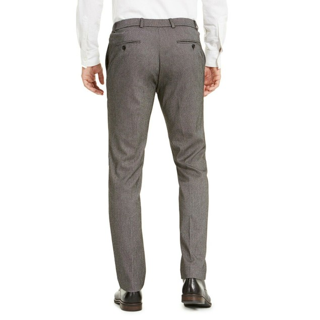 Tommy Hilfiger Modern Fit THFlex Stretch Knit Dress Pants Gray 34x32