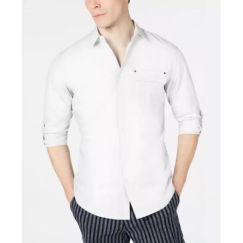 INC International Concepts Men's Ryan Topper Shirt White Size Medium