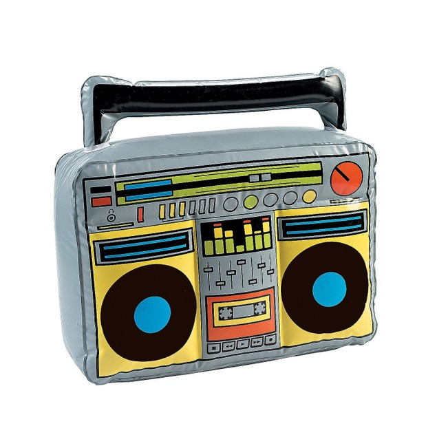 Jumbo Inflatable Boom Box Jam Speakers Novelty Large Costume Accessory Prop