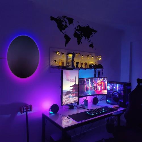 RGB Eclipse Circle Wall Lamp