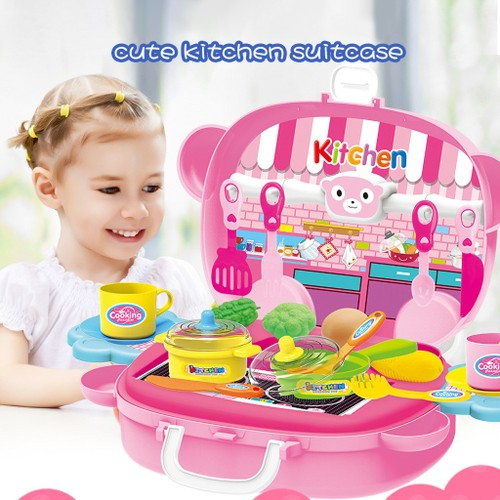 Simulation Kitchen Toys Children Pretend Role-Playing Toy Puzzle Game