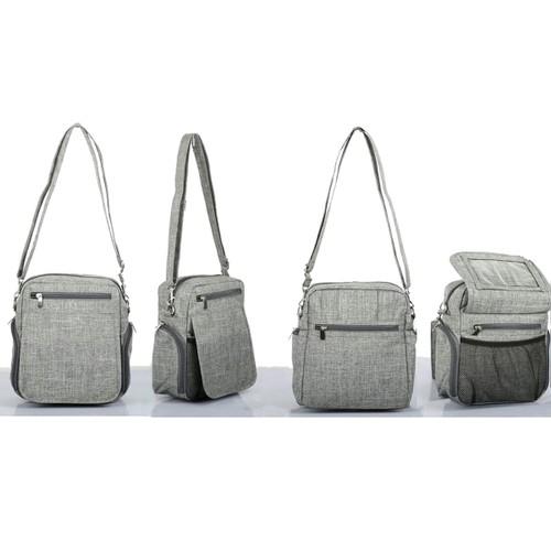 Organizzi TECSTYLE Textured Fabric Front-Flap Organizer Travel Work Bag