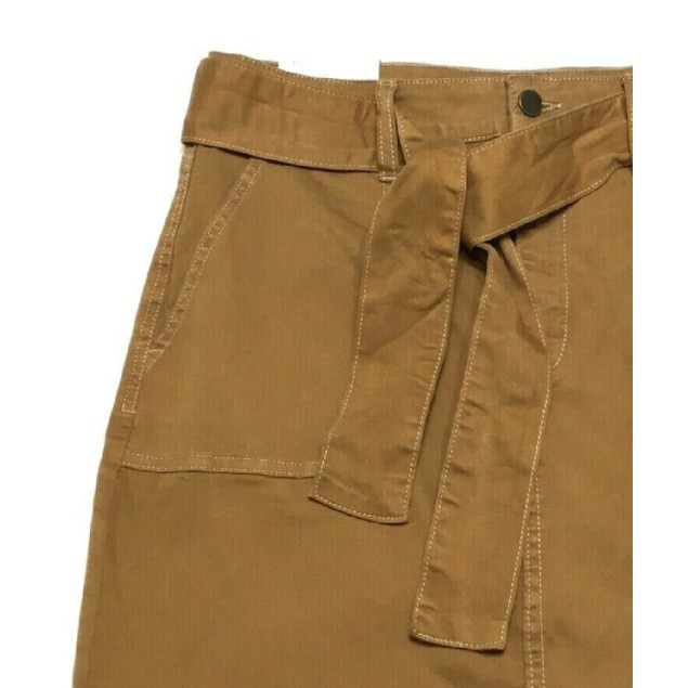 Tinseltown Juniors' Self Belt Mini Skirt Mustard Size 5