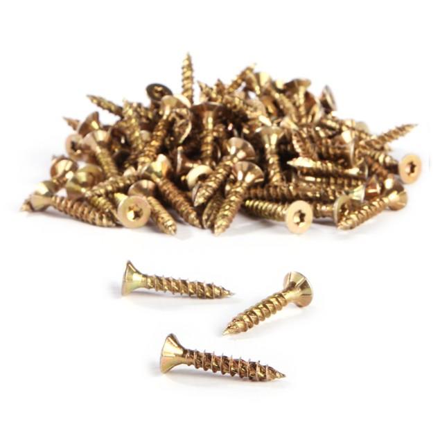 TurboDrive Yellow zinc plated Steel Wood screw T25 Dia 5mm (L) 30mm, Pack o