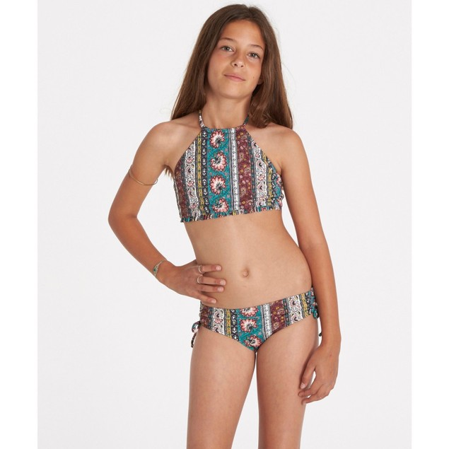 Billabong Girls' Girls' Hippy Ditsy High Neck Swim Set SIZE 5