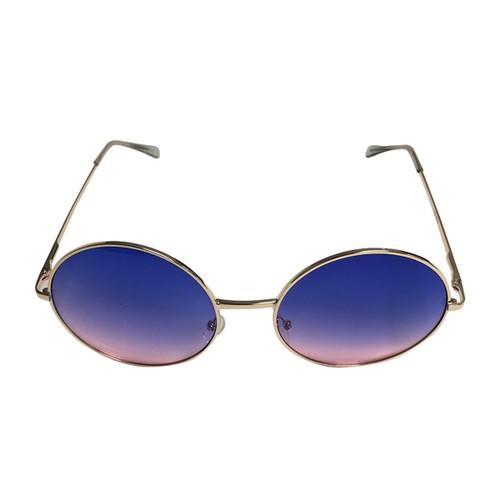Blue/Pink Fade Janis Joplin Round Sunglasses