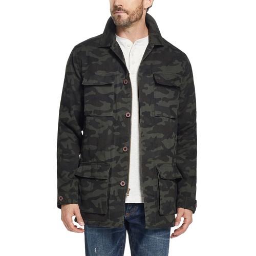 Weatherproof Vintage Men's Fleece Lined Camo Jacket Green Size Medium