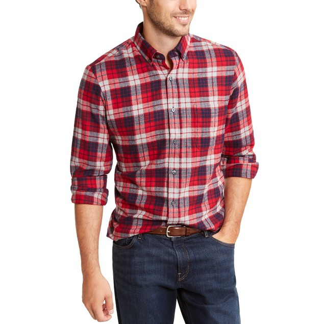 Club Room Men's Flannel Shirt Red Size Small
