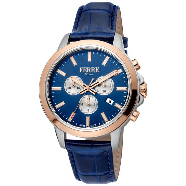 Ferre Milano Men's Classic Blue Dial Watch - FM1G153L0041