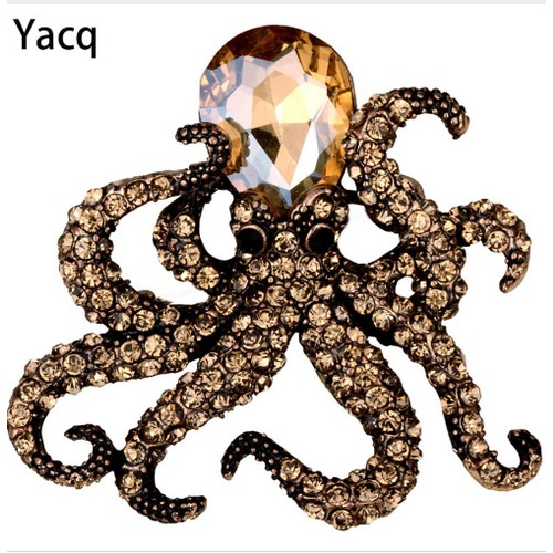 Octopus Stretch Ring Antique Gold Silver Color for Women