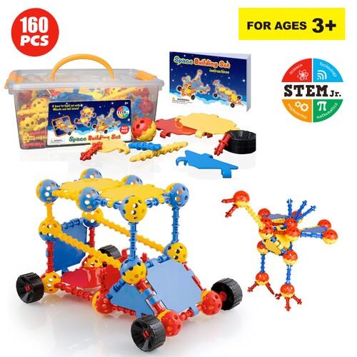 Zunammy STEM Educational Space Building Toys Set For Kids ( 160 Pieces )