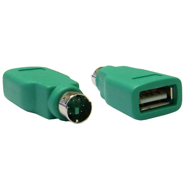 USB to PS/2 Keyboard/Mouse Adapter, USB Type A Female to PS/2 Male