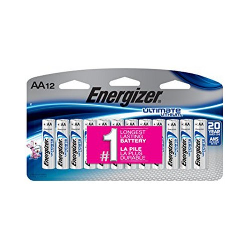 Energizer Ultimate Lithium L91 AA Batteries (12 Pack)