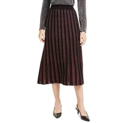 Alfani Women's Pleated Sweater Skirt Red Size Large