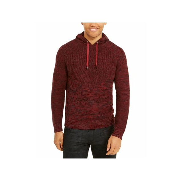 INC International Concepts Men's Hooded Sweater Maroon Size XX-Large