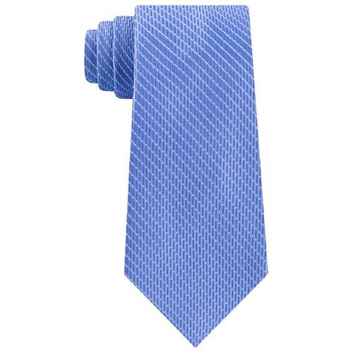 Michael Kors Men's Classic Dash Stripe Satin Tie Blue One Size