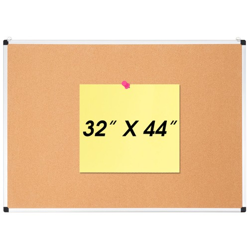 Costway 24'' x 36''44'' x 32''24'' x 18'' Cork Bulletin Board Wall Mounted