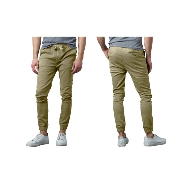 Men's Slim-Fit Classic Cotton Stretch Jogger Pants (Sizes, S to 2XL)