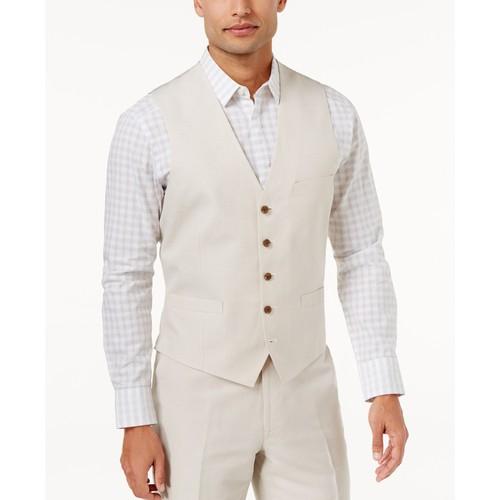 INC International Concepts Men's Nevin Vest Beige Size Large