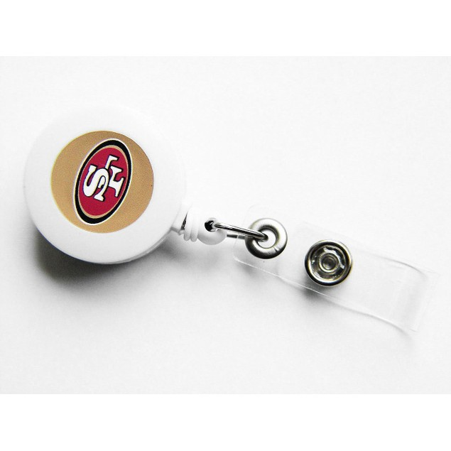 SAN Francisco 49ers Retractable Badge Reel Id Ticket Clip