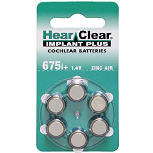 HearClear Size 675P Cochlear MF Zinc Air Hearing Aid Batteries (60 pack)