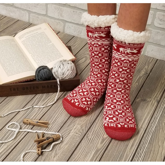 GaaHuu Women's Slipper Socks with Non Slip Bottom- Multiple Styles