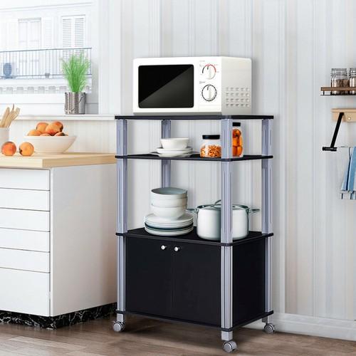 Costway Bakers Rack Microwave Oven Rack Shelves Kitchen Storage Organizer M