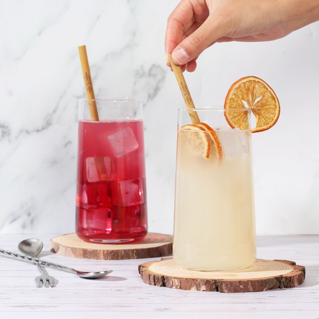 Tall Drinking Glasses - Set of 6   MandW