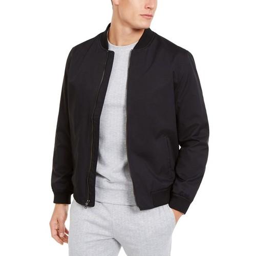 Alfani Men's Full-Zip Bomber Jacket Black Size X-Large
