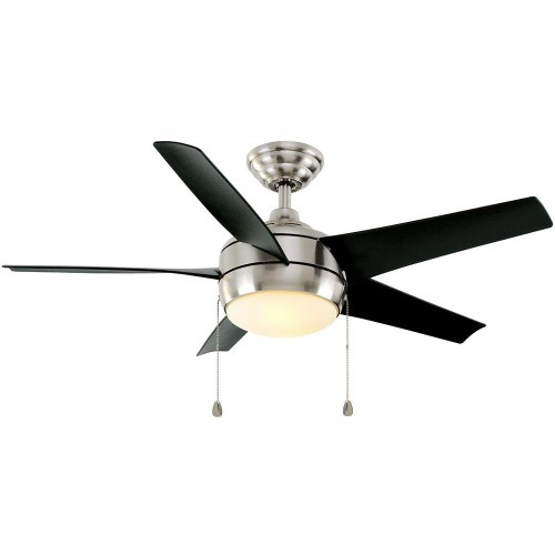 Home Decorators Windward 44 Inches LED Brushed Nickel Ceiling Fan with