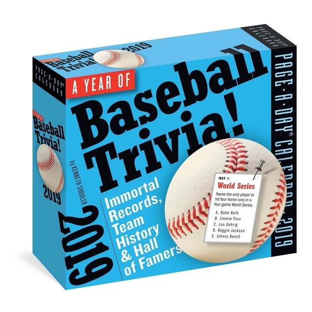 Baseball Trivia Desk Calendar, More Baseball by Calendars