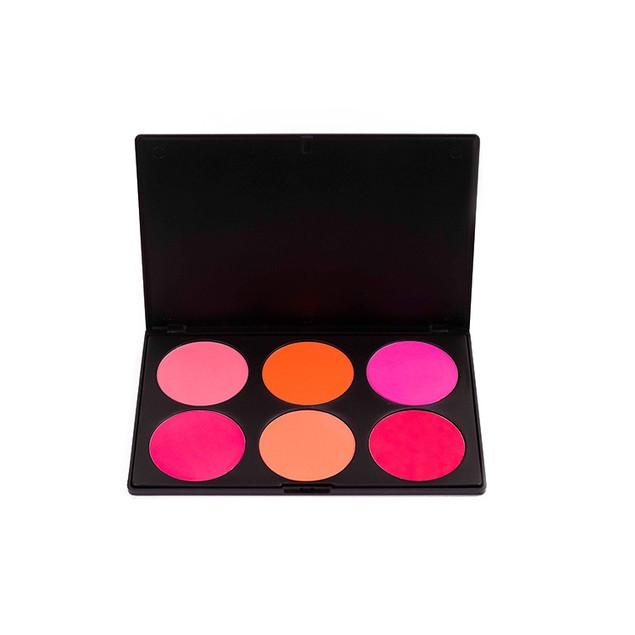 6-color Contour Powder Makeup Highlighter Shadow Powder Silhouette Powder Easy-to-color Foundation