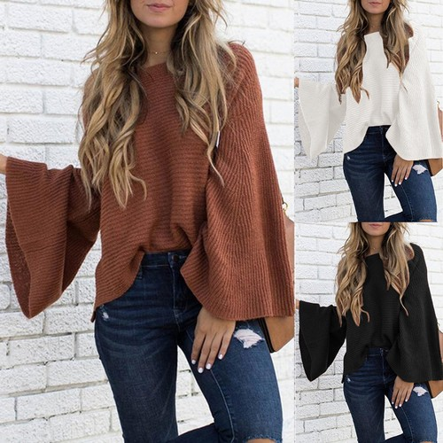 Female Trumpet Fashion Big Sleeve Sweater