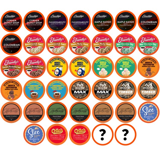 Two Rivers Coffee Mega Coffee Pods, Coffee Lovers Variety Pack, 40 Count