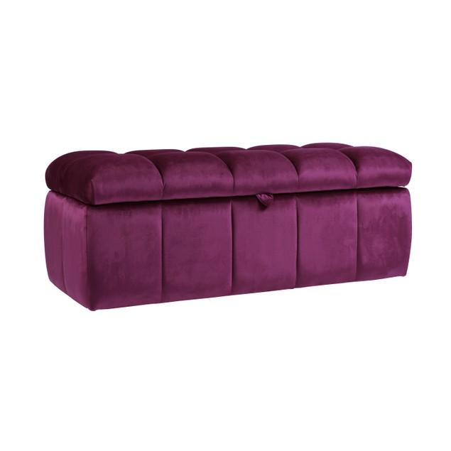 Chic Home Felicci Velvet Tufted Storage Ottoman Bench