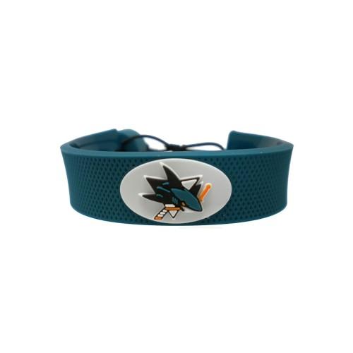 SAN Jose Sharks Team Color NHL Gamewear Leather Hockey Bracelet
