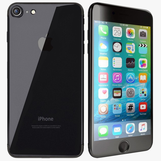 Apple iPhone 7, C Spire, Black, 128 GB, 4.7 in Screen