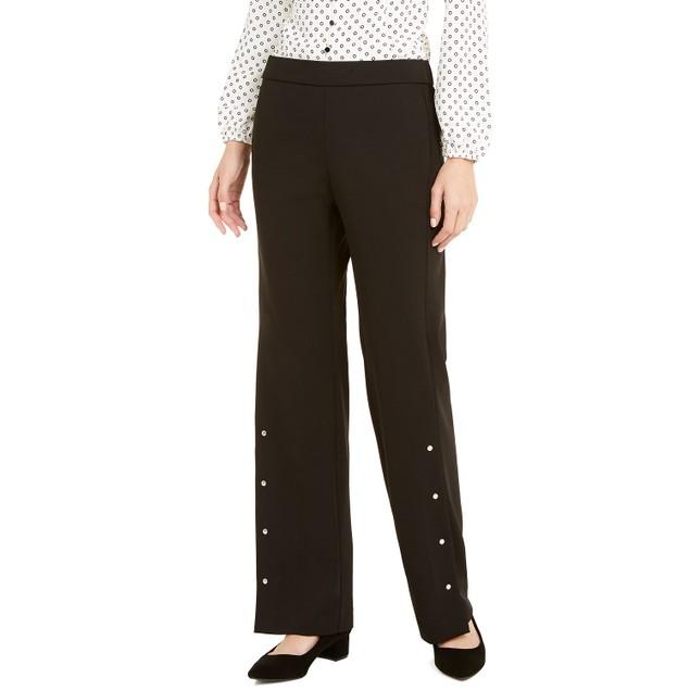 Alfani Women's Riveted Wide-Leg Pants  Black Size Extra Large
