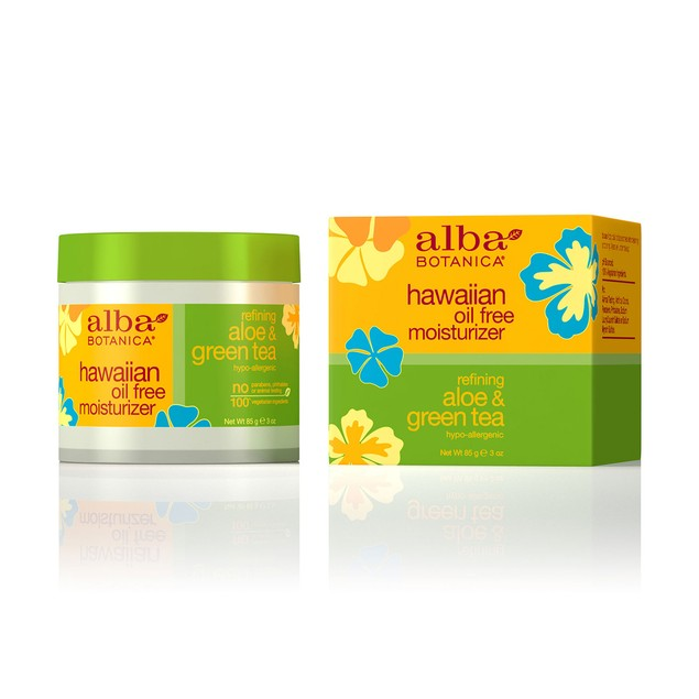 Alba Hawaiian Refining Aloe & Green Tea Oil-Free Moisturizer, 3 Oz.